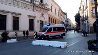 Download Italian Ambulance Responding in Vicenza,Italy/Croce Rossa Italiana Video