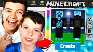 Download MAKING MY LITTLE BROTHER A MINECRAFT ACCOUNT! Video