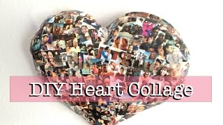 Download DIY Paper Mache Heart Collage (Wall Decor) Video