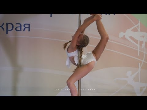Pole sport kids 13 years old Russian champion