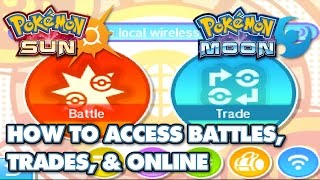 Download How to Access Wondertrade, Battles, and Other Online Features in Pokémon Sun and Moon Video