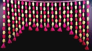 Download Handmade toran, Door Hanging Toran From Woolen Very Easy, How to Make Wool Toran Video