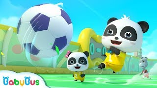 Download Little Panda's Soccer Game | Football Player Pretend Play | Sport Song for Kids | BabyBus Video