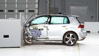 Download 2015 Volkswagen GTI small overlap IIHS crash test Video