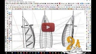 7 How to design like ZAHA HADID in SKETCHUP || curviloft || bezier