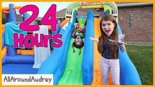 Download 24 Hours In Giant Bounce House Slide / AllAroundAudrey Video