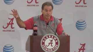Download Nick Saban gets fired up, spews profanity about overlooking Charleston Southern Video