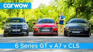 Download Audi A7 vs Mercedes CLS vs BMW 6GT review - which is the best? Video