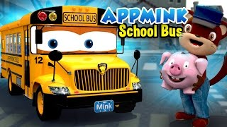 Download Wheels On The Bus Go Round And Round, Little Pig Goes To Town - Bus Cartoon for Kids Video