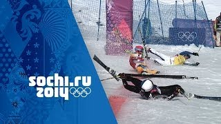 Download Crazy Photo Finish In Men's Ski Cross Quarter-Final | Sochi 2014 Winter Olympics Video