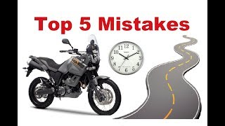 Download Top 5 Common Mistakes on a Long Motorcycle Trip - How to avoid them? Video