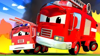 Download Baby Cars - Franck the FIRETRUCK and Baby Franck are Putting out a FIRE at School! Cartoon for kids Video