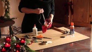 Download How to Make Christmas Ornaments Out of Jar Lids : Ornament Crafts Video