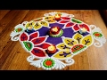 Download Freehand Rangoli Designs with colours Video
