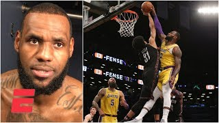 Download LeBron James getting denied for a dunk, only the 9th time that has happened | NBA 2018-19 Video