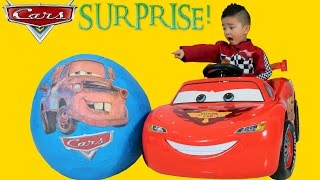 Download Disney Cars Giant Surprise Egg Lightning McQueen Toys Unboxing and Opening Fun With Ckn Toys Video