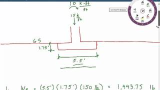 Download Calculating bearing pressure for foundation with moment load , shallow foundation design Example 4 Video