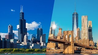 Download Race for the Skies: Chicago vs. New York | The B1M Video