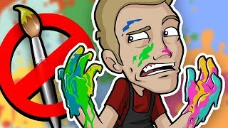 Download FINGER PAINTING Art Challenge - NO BRUSH ALLOWED!! Video