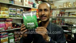 Download Tea shop in Thamel sells and mixes his own Nepalese Ilam and Darjeeling teas Video