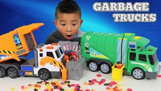 Download Garbage Trucks Toys Unboxing And Playing With Jelly Beans Ckn Video