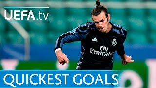 Download Bale, Seedorf, Makaay: 5 quickest UEFA Champions League goals Video