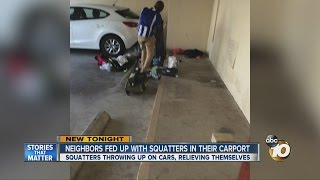 Download Neighbors fed up with squatters in their carport Video