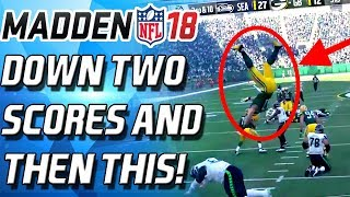 Download DOWN TWO SCORES IN THE 4th QTR...THEN THIS HAPPEND - Madden 18 Ultimate Team Video
