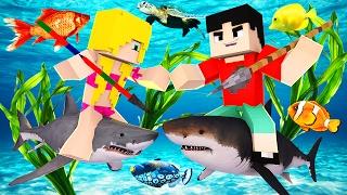 Download Minecraft RAFT - SHARK EATS ANOTHER SHARK?! (Raft Attack) Video
