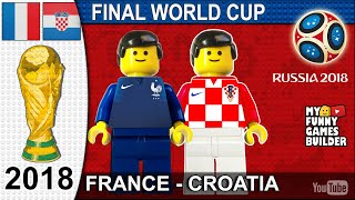 Download World Cup Final 2018 • France vs Croatia 4-2 • Moscow 15/07/2018 All Goals Highlights Lego Football Video