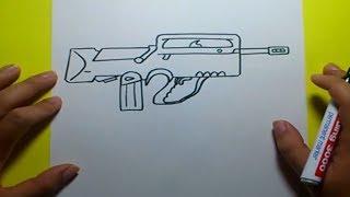 Download Como dibujar un arma paso a paso | How to draw a gun Video