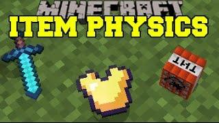 Download Minecraft: ITEM PHYSICS (EPIC DROP ANIMATIONS, FLOATING BLOCKS, & MORE!) Mod Showcase Video