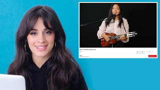 Download Camila Cabello Watches Fan Covers On YouTube | Glamour Video