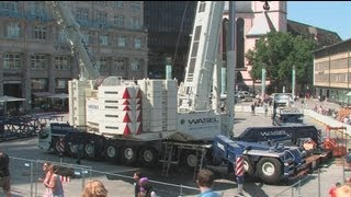 Download Kölner Dom - Demontage des 2. Hängegerüst - Cologne Cathedral Scaffolding - Part 1 crane montage Video