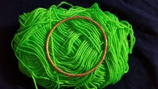 Download Hand Embroidery Beautiful // Bangles Trick Wool Flower Design Video
