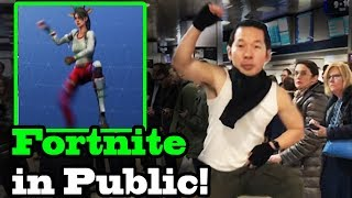 Download FORTNITE DANCES IN PUBLIC! In Real Life Challenge! (Best Mates, Take The L) Video