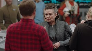 Download STAR WARS THE LAST JEDI Leia & Poe - Behind-The-Scenes Blu-ray Teaser Clip Video