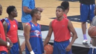 Download Seventh Woods & Dennis Smith Jr Go At It! Dunk Session at NBPA Top 100 Camp Video
