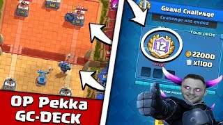 Download OP GRAND CHALLENGE DECK MIT PEKKA | 12 - 0 SIEGE EASY!!! | CLASH ROYALE Video