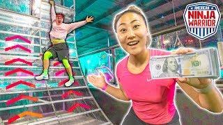 Download $10,000 NINJA WARRIOR CHALLENGE!! Video