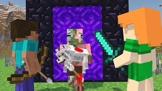 Download Zombie Pigman vs Villager Life - Minecraft Life Animation Video