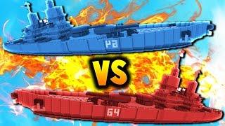Download THE BATTLE OF LUCK! | Minecraft RED vs BLUE BATTLESHIPS! Video