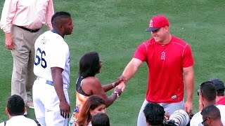 Download Yasiel Puig's Mom Meets Mike Trout & Pujols Video