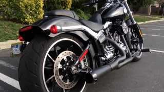 Download 2014 Harley FXSB Breakout with Bassani Road Rage 2-into-1 Exhaust Video