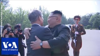 Download South Korea's President Moon Jae-in Meets with North Korea's Leader Kim Jong Un Again Video
