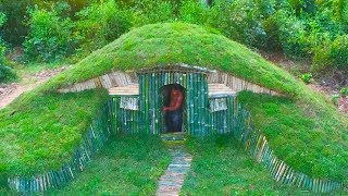 Download Unbelievable! A Small Hill become Beautiful Underground House Build by a Men - Hobbit House ( Full ) Video