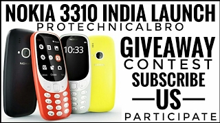 Download Nokia 3310 India Launch & Specs & GiveAway Contest. Video