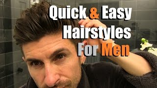 Download 2 Quick & Easy Men's Hairstyles That Look AWESOME! Men's Hair Tutorial Video