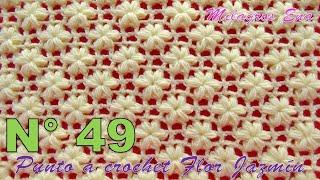 Download Punto a crochet FLOR JAZMÍN paso a paso para aplicar en mantitas, chalecos y cojines Video