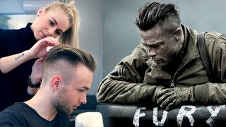 Download Brad Pitt Hair from FURY ★ Professional Guide ★ Men's Undercut Video
